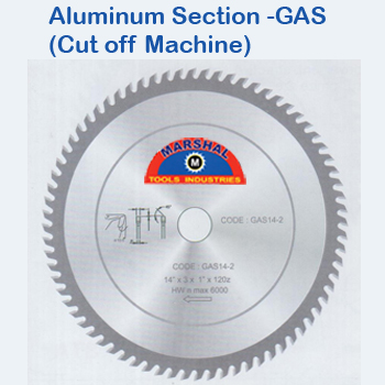 Aluminium Section Gas Cut Off Machine
